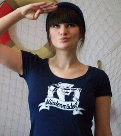*Küstenmädel* - Sailor Girl - maritimes Shirt von Küstenmädel auf DaWanda.com Sailor, T Shirts For Women, Etsy, Tops, Products, Fashion, Clothes For Women, Moda, Fashion Styles