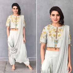 Samantha Ruth Prabhu is a seductive Tollywood actress. Mostly, she performed in South Indian cinema. Samantha Ruth gave the performance in superhit films. Indian Gowns, Indian Attire, Indian Outfits, Indian Wear, Samantha Ruth, Samantha Photos, Saree Draping Styles, Saree Styles, Indian Designer Outfits