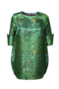 BROKÁTOVÁ TUNIKA ZELENÁ – MOLO7 Cold Shoulder Dress, Blouses, Long Sleeve, Sleeves, Shirts, Dresses, Women, Fashion, Woman