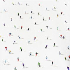 Beautifully uncrowded paintings of crowds by London-based artist Stephanie Ho. See more of Ho's perfectly placed figures, set againstminimalist backgrounds, below.           Stephanie Ho's Website Stephanie Ho on Saatchi Art