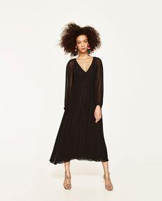 STUDIO LONG-SLEEVED DRESS-DRESS TIME-WOMAN   ZARA United States