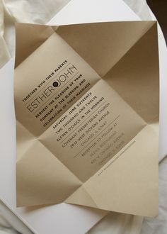 Wedding Invitations for Esther by Kathryn Duckett, via Behance