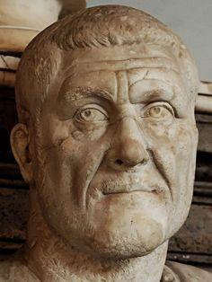 Portrait of the Roman emperor Maximinus Thrax (r. 235-238 CE). Now in the Capitoline Museum, Rome.