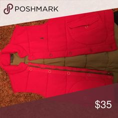 Red- Polo Ralph Lauren Vest Interior is gray. Size large Jackets & Coats Vests