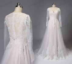 Long Sleeves Lace Wedding Dress  Bohemian Summer by loveinprom