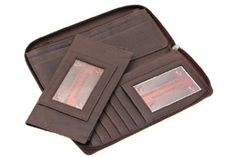 Ladies' Paul & Taylor Genuine Leather Zip Around Wallet With A Removable Checkbook Cover Paul & Taylor. $30.25