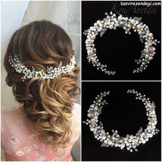 Wedding sequined and pearl beaded hair piece Bridal Tiara, Headpiece Wedding, Bridal Headpieces, Hair Accessories For Women, Wedding Hair Accessories, Jewelry Accessories, Hair Jewelry, Bridal Jewelry, Jewelry Shop