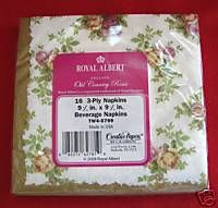 Royal Albert Old Country Roses Lunch Paper Napkins By