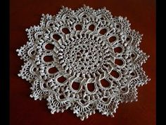 Салфетка крючком часть 2 (crochet doily Part 2) - YouTube