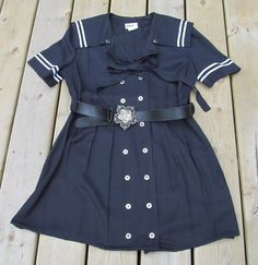 Vintage Sailor dress altered and reconstructed pin by paintallday, $34.00