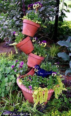 Topsy Turvy container garden