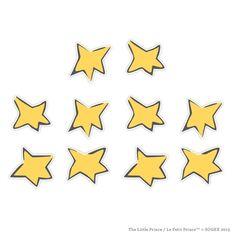 The Little Prince Wall Stars (Set of Little Prince Wall Graphics Star Tattoos, Tatoos, Compass Design, Mother Tattoos, Star Wall, Little Tattoos, The Little Prince, Cool Baby Stuff, Kids Playing