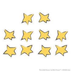 Le Petit Prince Wall Graphics from WALLS 360: The Little Prince Wall Stars (Set of 10)