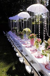 Superb idea for a sunny wedding day.