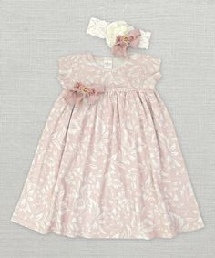 Look at this Filigree Floral Dress & Headband - Infant & Toddler on #zulily today!