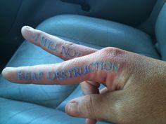 Finger Tattoo Healed
