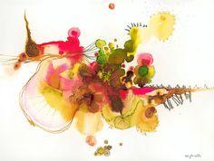 "Saatchi Online Artist: Cecilia Ghiraldo; Ink, Painting ""energy"""