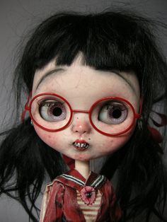 Steampunk Dolls, Hair Illustration, Doll Makeup, Julien, Cecile, Creepy Dolls, Little Doll, Custom Dolls, Blythe Dolls