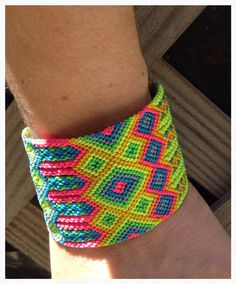 Sun Kiss Neon Friendship Bracelet Large by VillageGalleryDesign