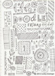Doodle Friday   Lesley Grainger Design