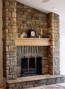 Stone on pinterest stone veneer photo galleries and for Stonecraft fireplaces
