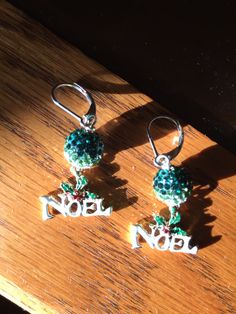 Green Ombre Pavé Crystal Earrings Noel Swarovski Green Crystal Earrings by BeadingSista on Etsy