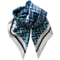 ALVA-NORGE - Moonstar Silk Scarf ($100) ❤ liked on Polyvore featuring accessories, scarves, multi colored scarves, patterned scarves, silk shawl, print scarves and colorful shawl