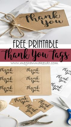 free printable thank you tags, thank you tags, free printable, gift tags, thank you tags, printable tags