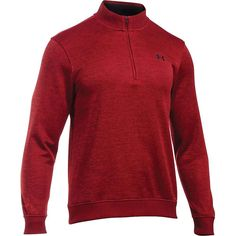 Under Armour Men's UA Storm SweaterFleece 1/4 Zip Top - Small - Rapture Red / Rapture Red / Black