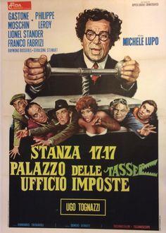 Stanza 17-17 palazzo delle tasse ufficio imposte #original #vintage #poster  manifesti originali d\'epoca www.posterimage.it