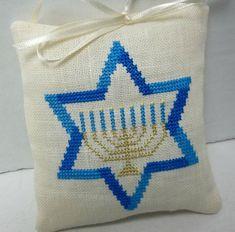 Hanukkah Ornament Menorah Jewish Cross Stitch Star Of David Diy Hanukkah, Feliz Hanukkah, Hanukkah Decorations, Hannukah, Happy Hanukkah, Hanukkah Bush, Modern Cross Stitch, Cross Stitch Designs, Cross Stitch Patterns