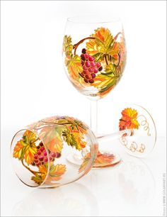 Catherine Goland - Wine glasses with grape