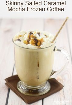 Skinny Salted Caramel Mocha Frozen Coffee!  Low Carb drink #McCafeMyWay #ad