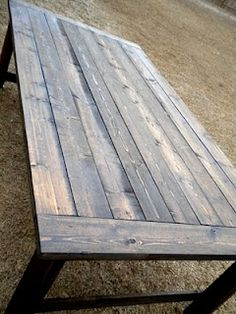 Barn wood table - I love recycled wood furniture!
