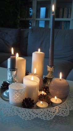 Candles, Decorating, Candy, Candle Sticks, Candle