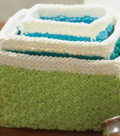 Knit Nesting Baskets   Free Knitting Pattern from @joannstores   Knit Projects