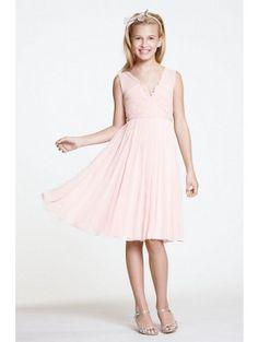 Jewel natural waist long satin pink junior bridesmaid for Wedding dresses for tweens