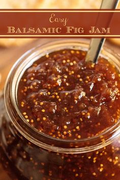 If you can cut up some dried figs and add sugar, balsamic vinegar, water and lemon juice then bring it all to a boil, you can make this delicious balsamic fig jam! Check out the post for a zillion ways to use it! Fig Jelly, Jam And Jelly, Dried Fig Recipes, Dips, Dried Figs, Fresh Figs, Fig Jam, How To Make Jam, Canning Recipes