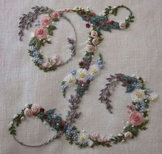 Wonderful Ribbon Embroidery Flowers by Hand Ideas. Enchanting Ribbon Embroidery Flowers by Hand Ideas. Embroidery Alphabet, Embroidery Monogram, Silk Ribbon Embroidery, Crewel Embroidery, Hand Embroidery Patterns, Applique Patterns, Cross Stitch Embroidery, Machine Embroidery, Embroidery Designs