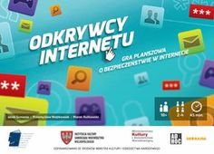 """Gra planszowa """"Odkrywcy Internetu"""". Przybliża zasady bezpiecznego i świadomego korzystania z TIK. Przygotowana jest do samodzielnego wydruku, może w nią grać 2 do 4 osób, a jedna sesja zajmuje około godziny... Gra, Web 2.0, E Learning, Portal, Internet"""