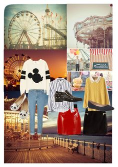 """""""carnival date outfit ideas"""" by missdevilxx ❤ liked on Polyvore featuring moda, Uniqlo, Dolce&Gabbana, H&M, Topshop, Lane Bryant ve Jimmy Choo"""