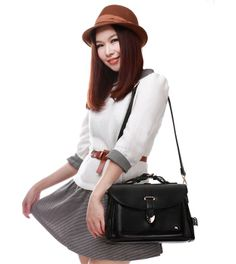 wholesale Girls messenger bags buckle hot sale preppy style GD-X1079