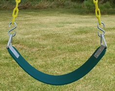 Basic Commercial Belt Swing Seat with Heavy Duty Chain - PlaysetParts.com $84.95