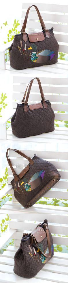 [청둥오리 숄더백] Patchwork Bags, Quilted Bag, Japanese Bag, Mary Janes, Chiffon, Quilts, Sneakers, Appliques, Shoes