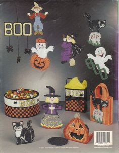 Scary Party Halloween Plastic Canvas