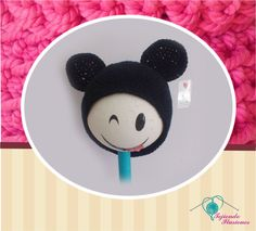 Modelo Nº 71: Modelo Mickey Mouse Tradicional, #tejido #Gorrito #bebe #Crochet