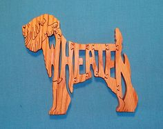 Dog Breed Scroll Saw Patterns   Wheaten (Terrier) Dog Breed Wooden Scroll Saw Puzzle ...