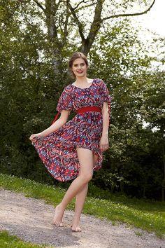 Sommerkleid-Tunika: Sommer in Seide - HANDMADE Kultur
