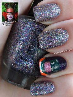 Day 21: Inspired By A Color: Mad As A Hatter nails!