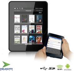 """$99.99 Velocity Micro Cruz Google Android Tablet & E-Reader With 7"""" Color Touch-Screen, WiFi, Accelerometer and More"""